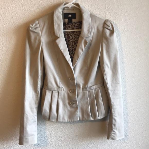 H&M Jackets & Blazers - H&M Beige Blazer